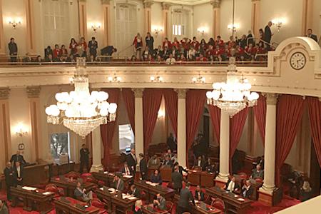 Photo of the US Senate floor on February 6, 2017