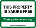 This property is smoke-free sign