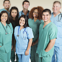 Photo of a group of healthcare industry employees.