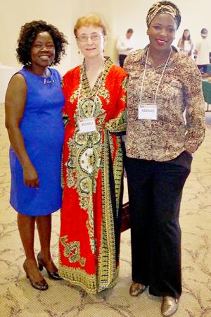 Elizabeth Lou, Beverly Haines, and Adenike O.