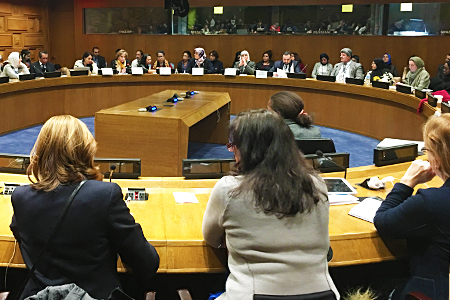 Photo of a attendees at CSW61 in New York